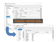 Transfer thermo data entries