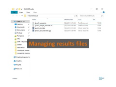 Manage results files