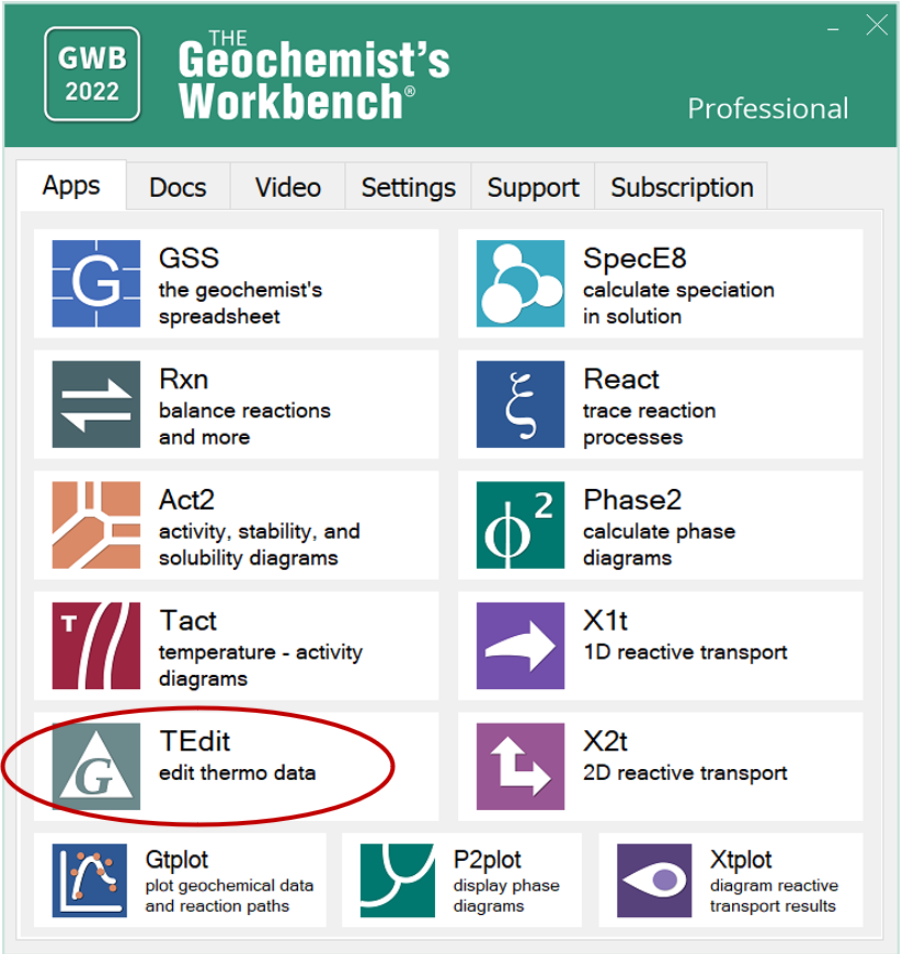 The Geochemist's Workbench® Online Academy: Thermo Datasets